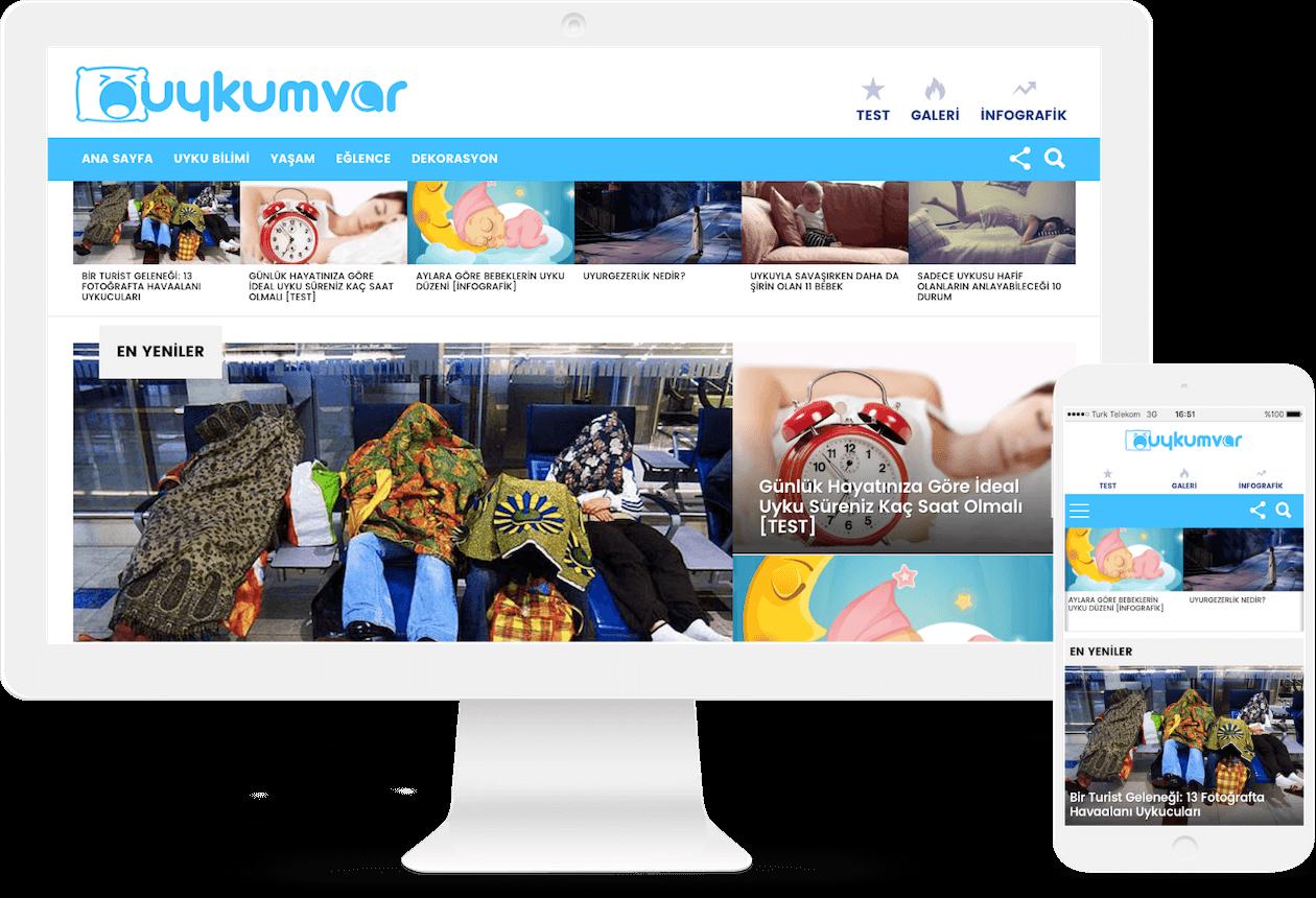 uykumvar-web-sitesi-kurulumu